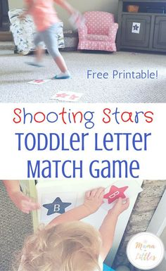 Gross Motor Activity for toddlers to match the letters of the alphabet!