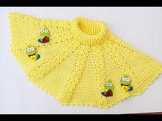 Crochet Baby Girl Poncho Toddlers Ideas For 2019 Crochet Baby Poncho, Crochet Hats For Boys, Crochet Beanie, Crochet Shawl, Easy Crochet, Baby Knitting, Kids Crochet, Lidia Crochet Tricot, Girls Poncho
