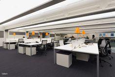 Open space dans les bureaux de Valtech à Paris, France