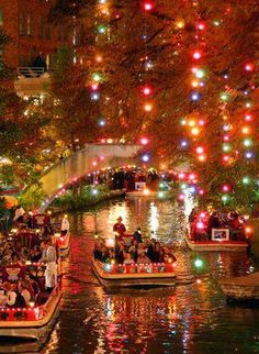 The San Antonio River Walk , Beautiful! , for more visit www.luxuryaddicted.com :)