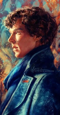 """alicexz: """"Portrait of Sherlock… I spent an insane amount of time on this! The lighting was extremely difficult to get down, for some reason. Anyway, this is my contribution to Bay Area Sherlock Con, which I will be attending this year as a Guest of. Benedict Sherlock, Sherlock John, Sherlock Series, Sherlock Fandom, Sherlock Holmes Bbc, Benedict Cumberbatch Sherlock, Watson Sherlock, Jim Moriarty, Sherlock Quotes"""