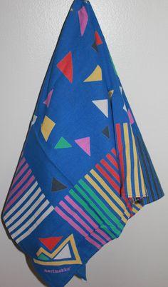Square vintage Marimekko scarf by FinnishTreasures on Etsy