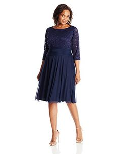 Jessica Howard Women's Plus-Size Elbow Sleeve Ruched Dress, Navy, 18W Jessica Howard http://www.amazon.com/dp/B0104F3G4W/ref=cm_sw_r_pi_dp_sXQEwb0T2RDSX