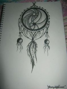 Image result for yin and yang dragon dream catcher tattoo