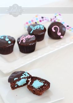 Baby Reveal Cupcakes