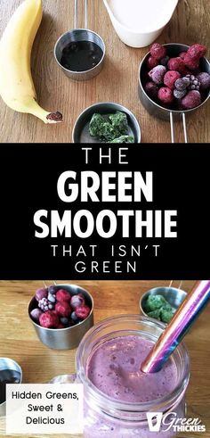 The BEST Green Smoothie Recipe Ever! With HIDDEN Spinach - Green smoothie recipes - This is the best green smoothie recipe for people who are nervous about drinking spinach. I promise - Green Detox Smoothie, Healthy Green Smoothies, Apple Smoothies, Smoothie Cleanse, Juice Cleanse, Smoothie Bowl, Diet Smoothie Recipes, Smoothie Ingredients, Juice Recipes