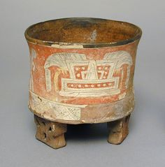 Tripod Vessel with Year-Sign Headdress and Mountain Motif | LACMA Collections