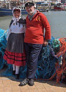 tipiche Oosdendse visser kledij (weet niet goed hoe je het schrijft)