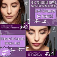 Younique: Saving Lashes, Changing Lives  Lash Enhancer for growth & Moodstruck EPIC Mascara for volume, length & curl! www.TheDivaDonna.com