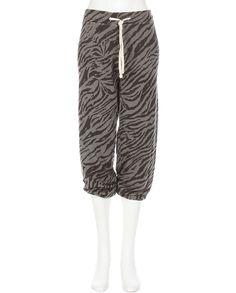 Sweatpants with an edge.  Sweatpants with tiger pattern by Sundry | Pretty Little Liars