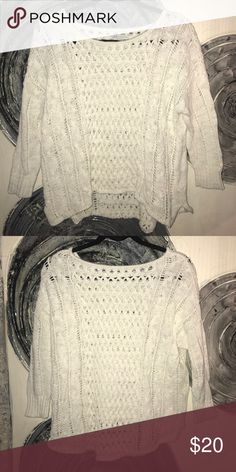 American eagle sweater No holes or tears in the fabric. Worn once. American Eagle Outfitters Sweaters Crew & Scoop Necks