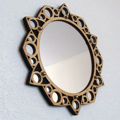 Starlight Mirror Laser Cut Wood Frame 7 mirror by MadeByMonji