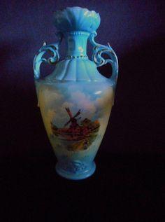 Abigails Vinci Turquoise 2 Handle Urn Vase