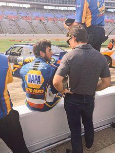Chase Elliott and Jeff Gordon