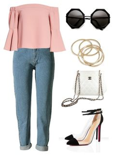 """""""Structured"""" by crownof-floralbeauty19 ❤ liked on Polyvore featuring Topshop, ABS by Allen Schwartz, Chanel, outfit, ootd and fashionable"""