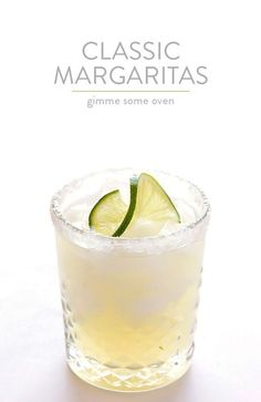 The Perfect Margarita Recipe -- made with 3 ingredients, and SO tasty!   gimmesomeoven.com