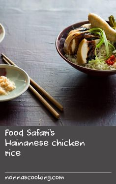 A much-loved Chinese classic, this Singaporean recipe is an interpretation of chicken rice, using pandan, kecap manis and cucumber to complement the balance of flavours. Recipe Using Chicken, Yummy Chicken Recipes, Yum Yum Chicken, Rice Recipes, Cooking Recipes, Yummy Food, Chinese Recipes, Chinese Food, Hainanese Chicken