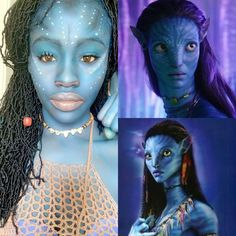 Neytiri – Na'vi costume – Na'vi makeup – body paint – James Cameron Avater costume – Black cosplay – cosplayer Black Girl Art, Art Girl, James Cameron, Body Painting, Avatar, Princess Zelda, Cosplay, Costumes, Makeup