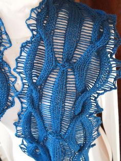 While the long rectangle is a grand tradition, it can be fun to vary things up a bit. Here are ten scarf knitting patterns that play with shape!