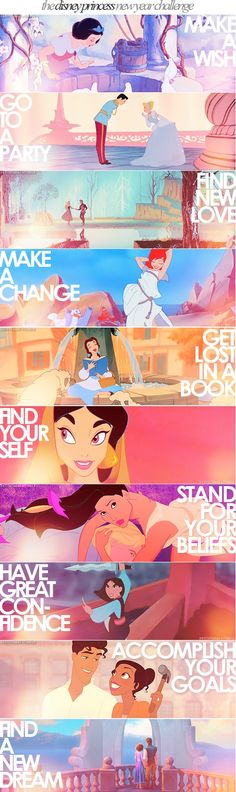 Disney princess new year challenge - to accomplish each new Disney movie challenge