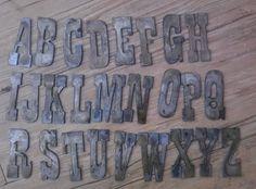 6 Inch MICHIGAN State Shape Rough Rusty Metal Vintage Stencil Ornament Craft