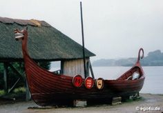 Viking long boat, Wexford, Ireland