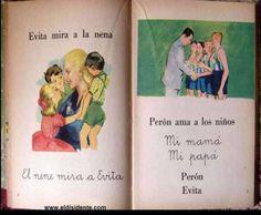 Una de las páginas del libro de lectura obligatoria para primer grado en las escuelas argentinas.