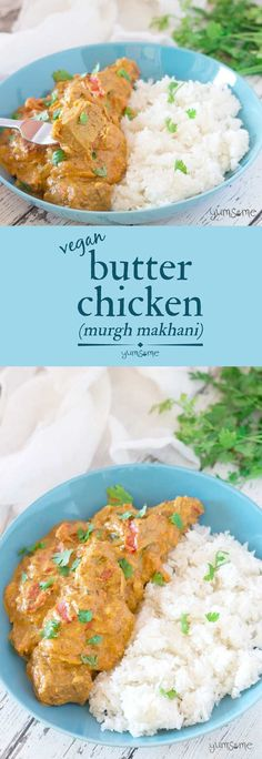 This #creamy #butter #chicken is a delicious lightly-spiced combination of tangy #yoghurt and sweet #tomatoes, with butter and #cashew #cream to add a decadent richness. | yumsome.com