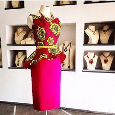 Ankara top and skirt