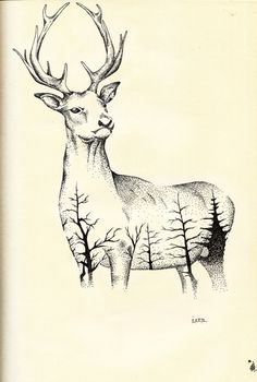 geyik (çift pozlama tekniği gibi) Kurşun kalem 2B 0,5mm - Uni pin fine line 0,1 mm - Caretta soft liner 5 0,4mm Moose Art, Sketches, Animals, Hipster Stuff, Drawings, Animales, Animaux, Animal, Doodles