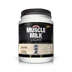 CytoSport Muscle Milk Light: Cake Batter Flavored. Fewer calories than the regular Muscle Milk and 1/2 the price of the other popular cake batter protein shake powders.