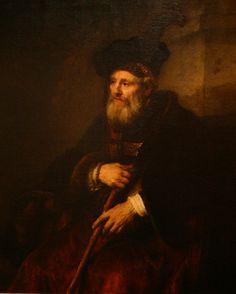 Oil Portraits of Men | Description Portrait of an Old Man - Rembrandt - 1645 - oil on canvas ...