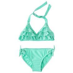 Xhilaration® Girls' Halter Ruffled Bikini - $14.99 | Target.com