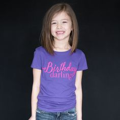 """""""Birthday Darling"""" Fitted Tee"""