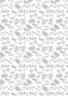 MeinLilaPark – DIY printables and downloads: Free printable cat coloring paper…