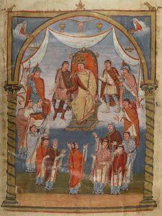 Charles le Chauve recevant une délégation de moines venant de Tours