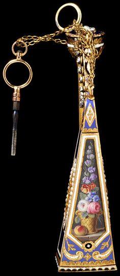 Diamonds, Enamel, French, gold, jewelry, Music, music box, pearls, pendant, made in Switzerland 1805