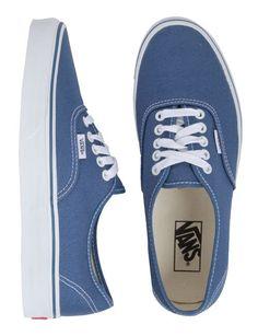Vans Authentic Canvas Shoes - Navy | Sundance Beach