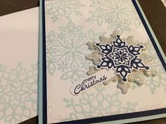 Festive flurry, Stampin' Up! Christmas card.