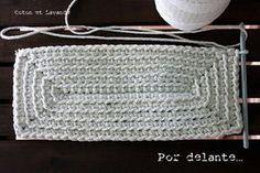 Crochet Rectangle - Tutorial ❥ 4U hilariafina  http://www.pinterest.com/hilariafina/