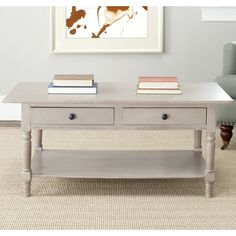Safavieh Cape Cod Grey 2-drawer Coffee Table - Overstock™ Shopping - Great Deals on Safavieh Coffee, Sofa & End Tables