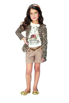 #AnimalPrint Moda para crianças Bermuda Shorts, Teen, Baby, Fashion, Fashion For Kids, Women's Work Fashion, Women's, Moda, Fashion Styles