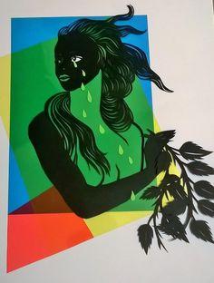 Clorofilla. Cutter, paper, vinyl acetate. Stefania Missio, 2015.