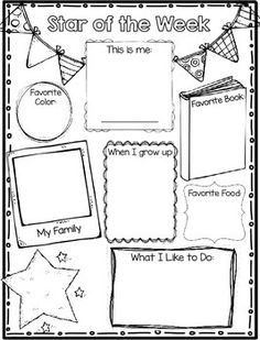 Star of the Week Student Poster Freebie {Back to School