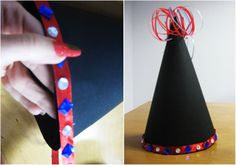 Time to don those party hats! 'New Year Hat' is a fun craft activity that gives kids ideas on how they can make their very own funky party hats! New Year's Crafts, Fun Crafts, Crafts For Kids, New Years Hat, When I Grow Up, Red Ribbon, Different Patterns, Craft Activities, House Party