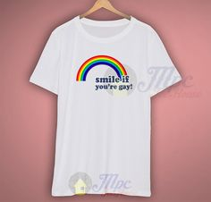 Smile If You re Gay Vintage 80s T shirt - Mpcteehouse cf66c174b