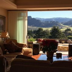 home Stopped by a beautiful home for sale in Carmel. This was the view from the livin...
