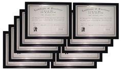 Weyli Black 11x14 Modern Wood Certificate Document Frame, 10-PACK