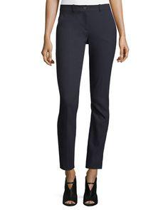 MICHAEL KORS Samantha Skinny Pants, Navy. #michaelkors #cloth #