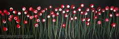 Bloemen met wattenstaafjes